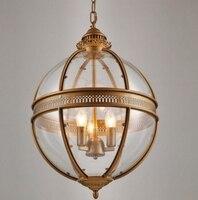 Винтаж Лофт стеклянный шар подвесной светильник гладить круглый шар лампы Тенты подвесной светильник Кухонный инвентарь лусте дома Освеще