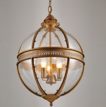 Vintage Loft cam küre ışıklı kolye Demir Yuvarlak top lamba Gölge Asılı Lamba Mutfak Armatürü Luste Ev Aydınlatma E27 Uydurma