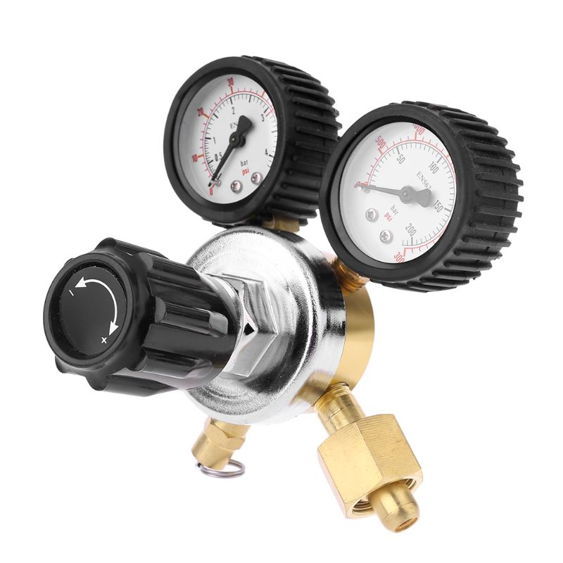 CO2 Regulator Keg Beer Regulator with Pressure Relief Valve for Gas 0 3000PSI (Dual Gauge) Carbon Dioxide Reducer|Pressure Regulators| |  - title=