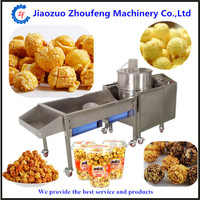 Commercial electric popcorn machine full automatic stainless steel popcorn making machine temperature control