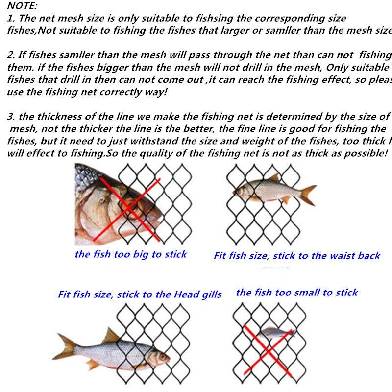 de pesca 3 camada ao ar livre peixe rede vermelho