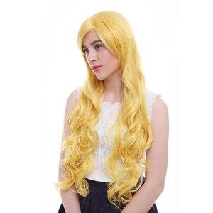 Image 5 - Парик L email длиной 32 дюйма, 80 см, парики для косплея, 5 цветов, волнистые, коричневые, бежевые синтетические волосы, парик для косплея
