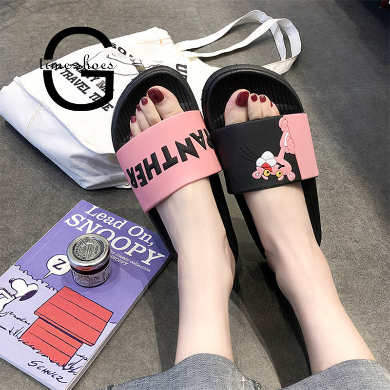 Gtime Dropshipping Pink Leopard Slippers Female Summer Cute Cartoon Indoor Non-slip Bathroom Thick Bottom Home Slippers CYR046 image