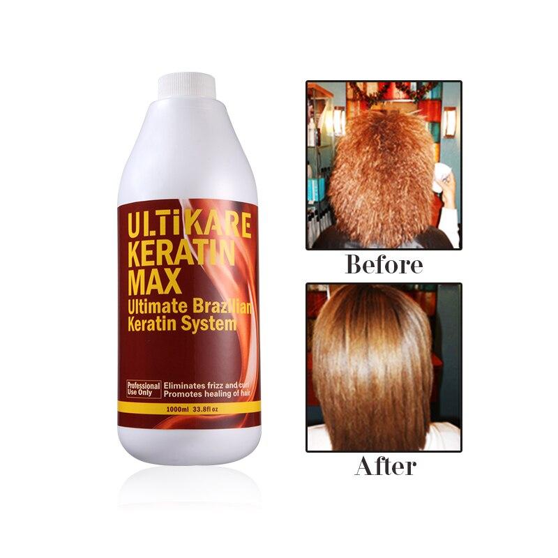 1000ml Chocolate Brazilian Keratin Treatment 8% Keratin Hair Straightening+Hair Flat Iron Keratin Smoothing Hair Care Products