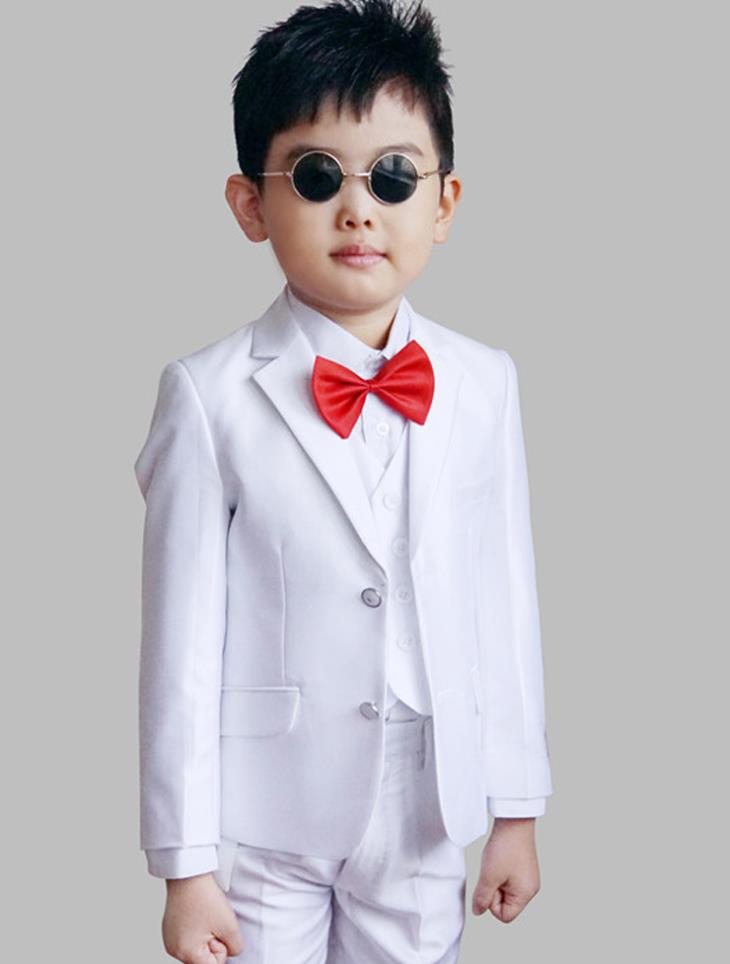 England Style Man Child White Boy Suit Tuxedos Boys Formal Suits Blazer+Pants+Vest 4-12Y Boys Formal Suits For Weddings KS-1620 boys formal suits set weddings birthday child kids fashion party tuxedos boys plaid formal suits blazer vest pants 3pcs h027
