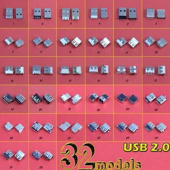 32Models USB Socket 2.0 USB Jack Connector Port For Lenovo Samsung Dell HP Toshiba Sony Laptop for Acer Aspire 5232 5241 yuxi for lenovo toshiba samsung dell asus sony tongfang acer new commonly laptop dc power jack connector 40 models 80 pcs