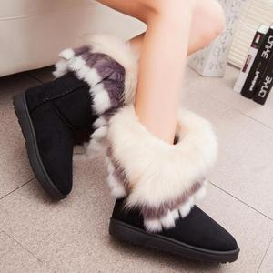 Image 3 - Fox Snow Women Winter Boots Fashion Ladies Ankle Booties Fur Bota Feminino Warm Casual Shoes Fuzzy Female Fether Shoes Cute