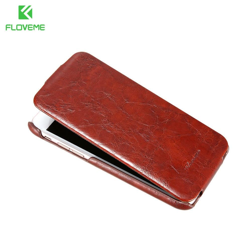 Floveme marca original para iphone 7 cera de aceite de cuero de lujo case de cue