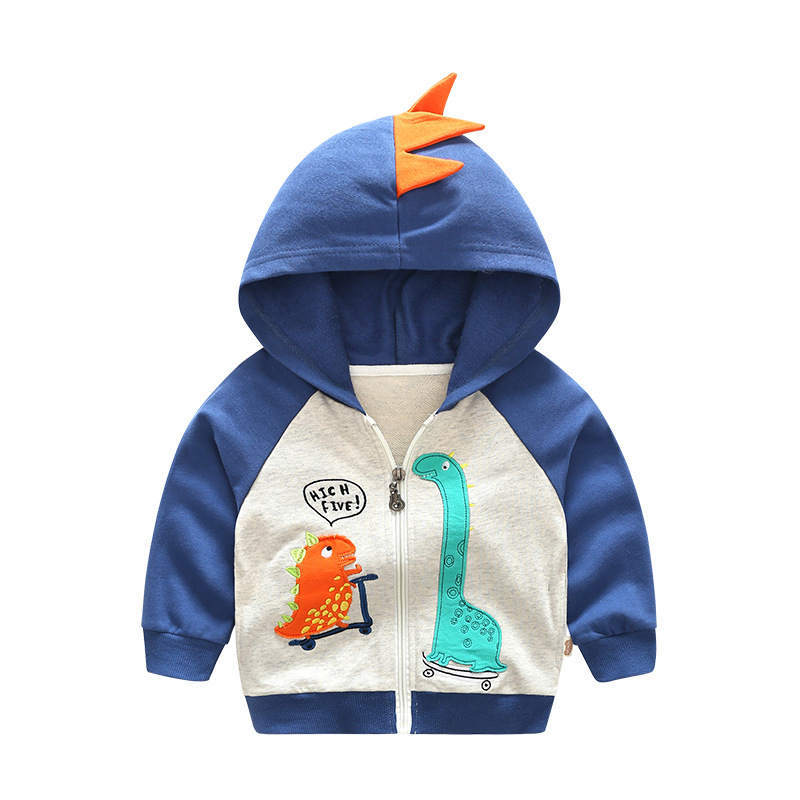 high quality 2017 new children hoodies sweatshirt  Boys girls cotton Embroidery cartoon monster dinosaurs toddler kids clothes