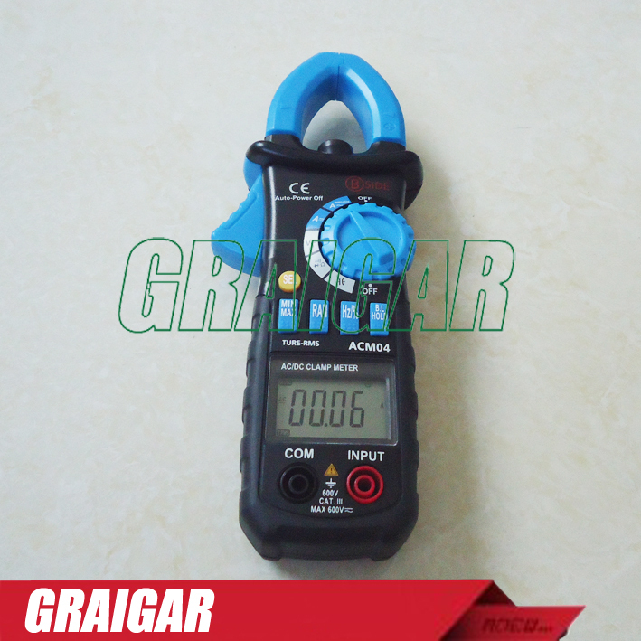 ФОТО New ACM04 Digital DC Auto Clamp Meter True RMS AC DC Current and Voltage Frequency Capacitance Tester