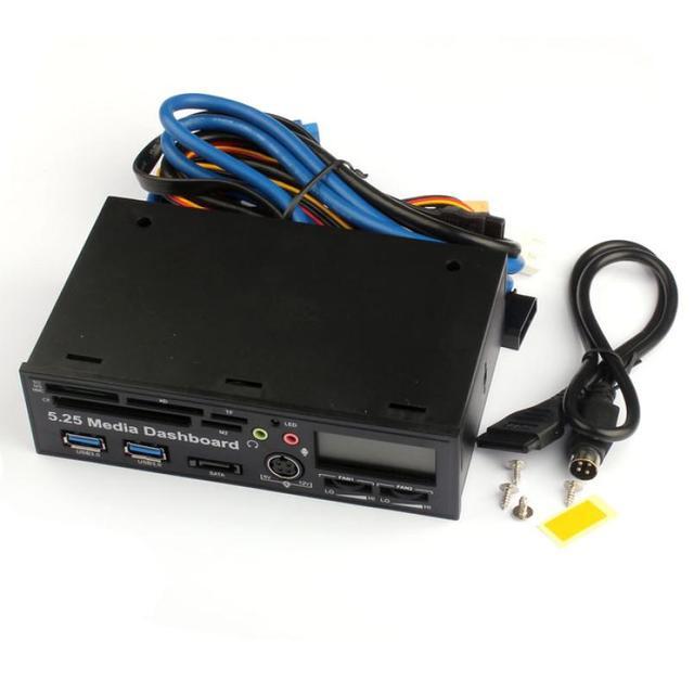 Melhor Preço de 5.25 Polegada USB 3.0 de Alta Velocidade Leitor de Cartão de Mídia Do Painel Frontal Do Painel PC Multi