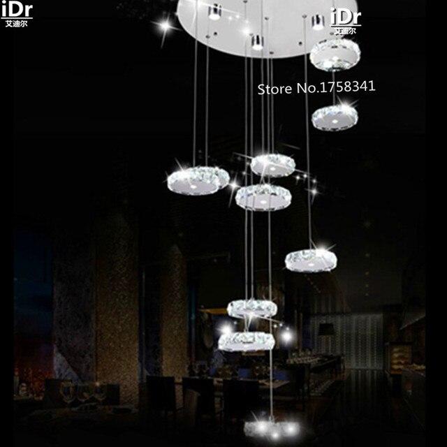 Kreative Persönlichkeit D600xH1600MM Moderne Wohnzimmer Kronleuchter  Kristall Kronleuchter Edelstahl Oblong LED Chandelie