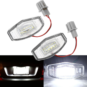 2x 18 LED License Plate Light Bulb For Acura TL TSX MDX Honda Civic Accord 6000K image