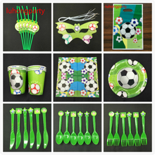 84pcs football Theme cup napkin plate spoon horn for Kids Birthday Party Decoration 6people use Set