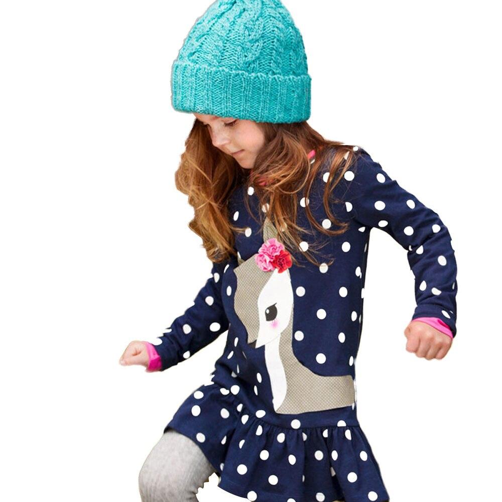 May Baby #5001 niños de manga larga Halloween calabaza estampado rayas vestido correa para el cabello ropa de niña