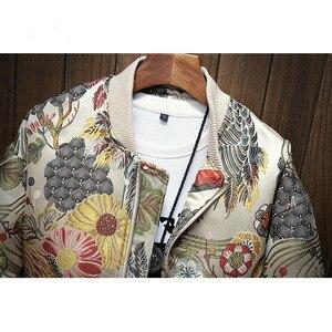 Image 4 - Японская куртка с вышивкой Для мужчин 2019 Весна футболки в стиле «хип хоп», уличная Курточка бомбер Для Мужчинs одежда куртка Homme