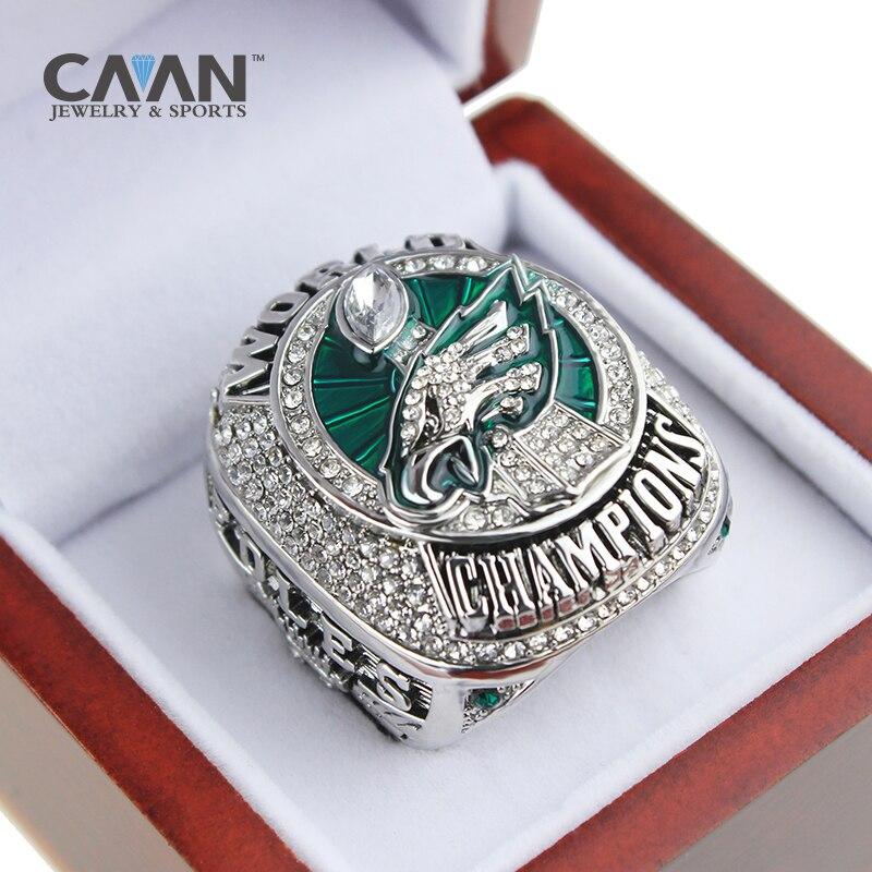 Oficial 2018 Philadelphia Eagles anillo Campeonato anillo Foles y Wentz tamaño 9-13 para los Fans