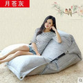 Gray Beanbag beanbag chair folding simple cotton Double beanbag sofa bed tatami bed computer Ywxuege
