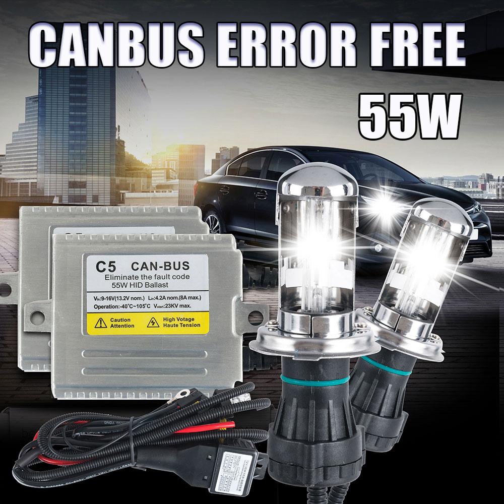 4300K 5000K 6000K 8000K 10000K 9003//HB2 HID Bi-Xenon Bulbs HID-Warehouse H4