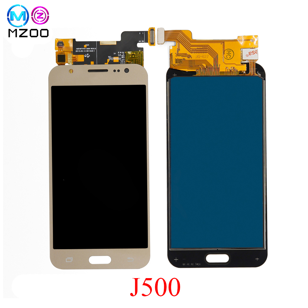 MZOO Für <font><b>Samsung</b></font> GALAXY J5 J500 J500F J500FN J500M <font><b>J500H</b></font> 2015 <font><b>LCD</b></font> Display Touch Screen Panel Pantalla Digitizer Montage Teile image
