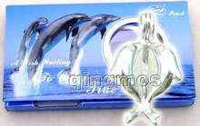 Popular Gift One Box Kiss dolphin pendant Wish Pearl Necklace set wish waiting come true-3622_8 Wholesale/retail