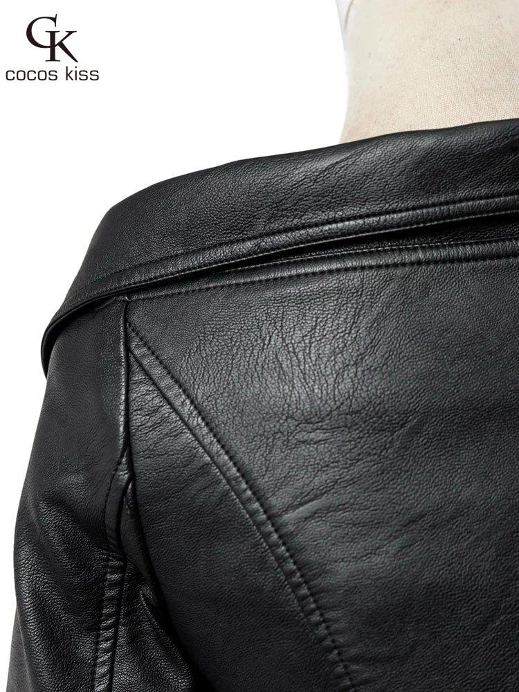 Arrivée Dames Noir Off Veste En Nouvelle Épaule De Mode Jupettes Faux Courtes Moto Sexy Col Style 2016 Femmes Cuir Bateau XH5xqp