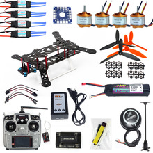F11859-E Full Set RC Drone Quadrocopter Aircraft Kit 300H 300mm Frame 6M GPS APM 2.8 Flight Control AT10 Transmitter