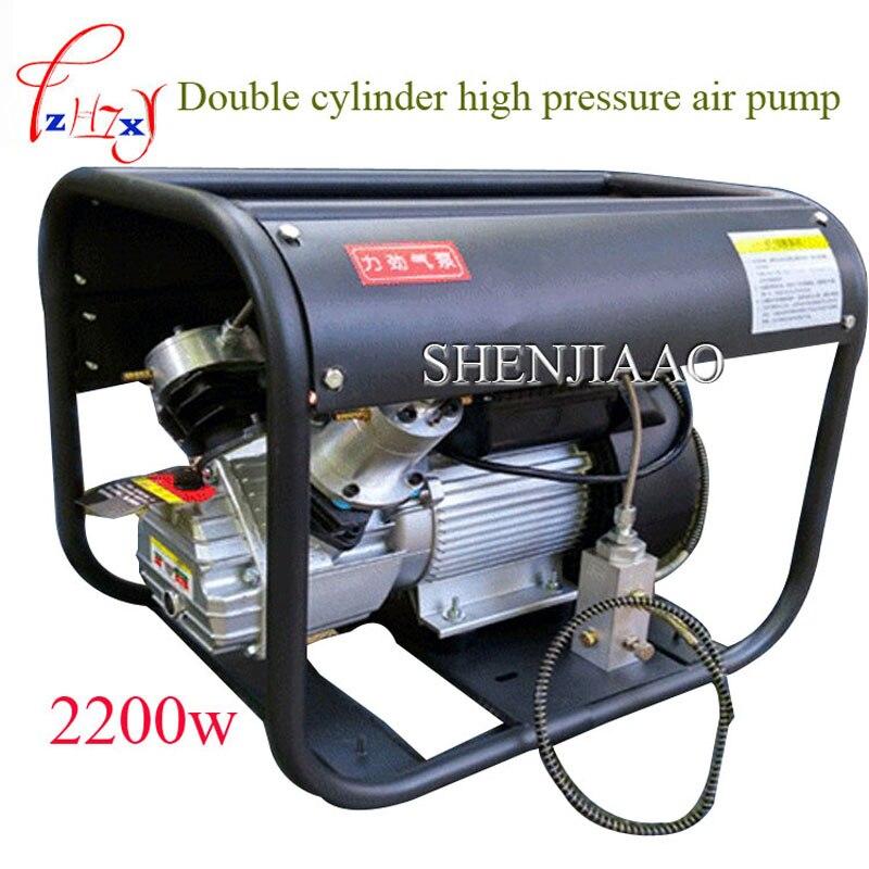 Haute pression pompe à air 220 V 2.2KW Double Cylindre Électrique pompe à air haute pression paintball air compresseur pour carabine fusil