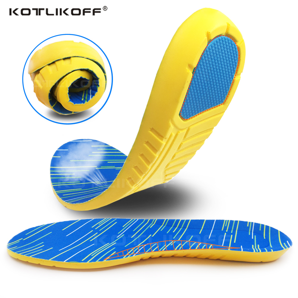 KOTLIKOFF Running Sports Shoes Insole Foot Arch Support Shoes Sole Relieve Foot Pressure Heel Spurs Inner Acupressure Insole Pad