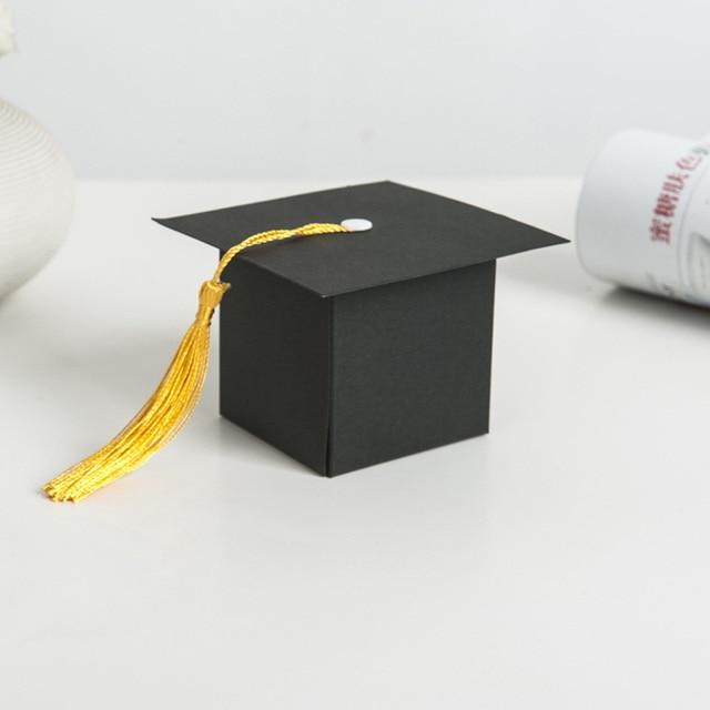 50pcs Creative Graduation Gift Box Congrats Grads Cap For Party