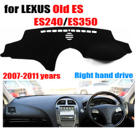 Car dashboard cover For LEXUS Old ES ES240 ES350 2007 2011 Right hand drive dashmat pad dash covers auto dashboard accessories