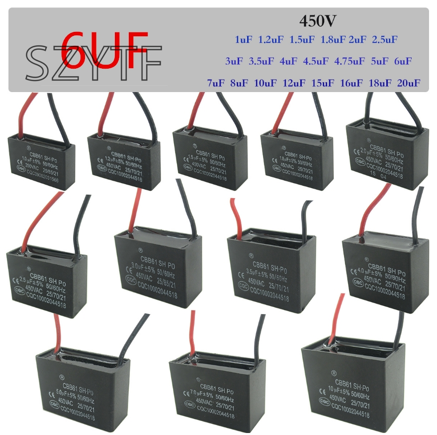 cable 450 V Cable 8.0uf Motor Capacitor Start Capacitor 450V