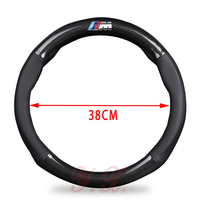 General 38CM High Quality Carbon Fiber Car Steering Wheel Cover Genuine Leather For BMW E36 E46