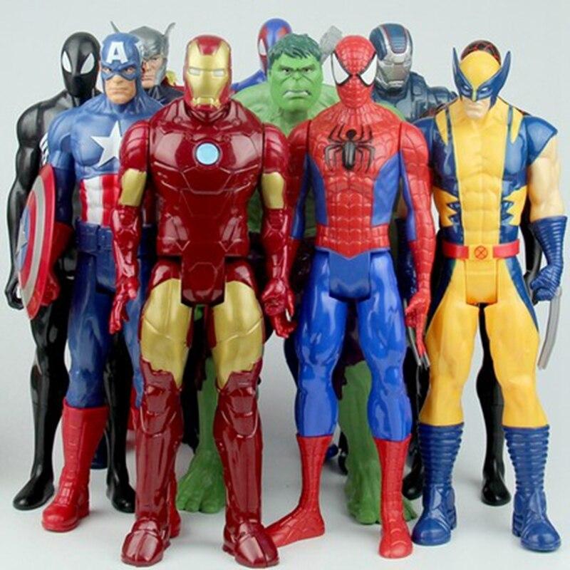 Die Avengers Spider mann super heros Spider man Thor Captain America Wolverine SpiderMan Action Figure Spielzeug Puppe Weihnachten Geschenke