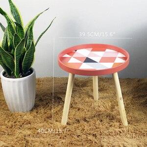 Image 5 - طاولات قهوة صغيرة طازجة صغيرة إسكندنافية طاولات خشبية مستديرة منخفضة مبتكرة أثاث منزلي لغرفة المعيشة إكسسوارات تزيين منزلية