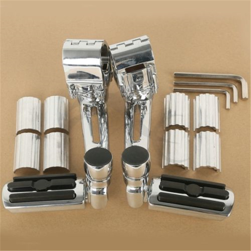 Image 3 - Motorcycle 1 1/4'' Highway Chrome Front Foot pegs Footrest For Honda GL1800 GOLDWING-in Foot Rests from Automobiles & Motorcycles