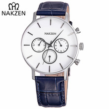 цены NAKZEN Men Fashion Sport Quartz Simple Clock Business Mens Watches Top Brand Luxury Waterproof Wrist Watch Relogio Masculino