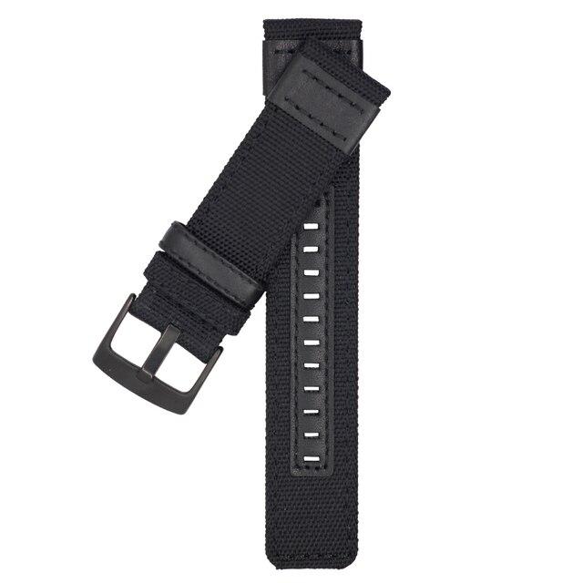 ZLIMSN New Nylon Mesh Watch Band Strap Men's Women Sport Watches Belt Accessories 22mm 24mm Watchband Brown Black Green