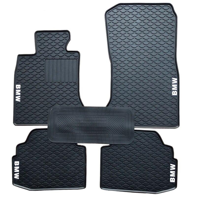 Pas d'odeur tapis de voiture Durable personnalisé antidérapant tapis de sol en caoutchouc imperméable pour 1995-2009 année BMW 5 série E39 E60
