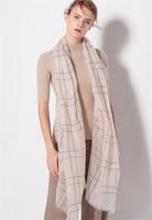 100%lambswool women fashion plaid thin scarfs shawl pashmina 100x200cm grey 4color large size