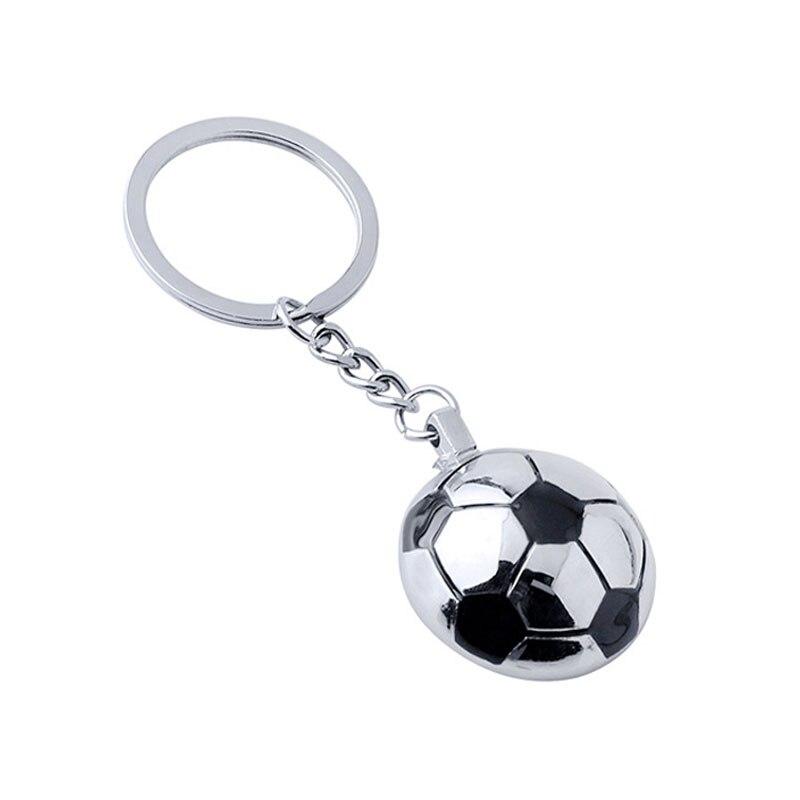 ᑎ‰Fútbol llaveros metal Media bola del fútbol llaveros Copa del ...