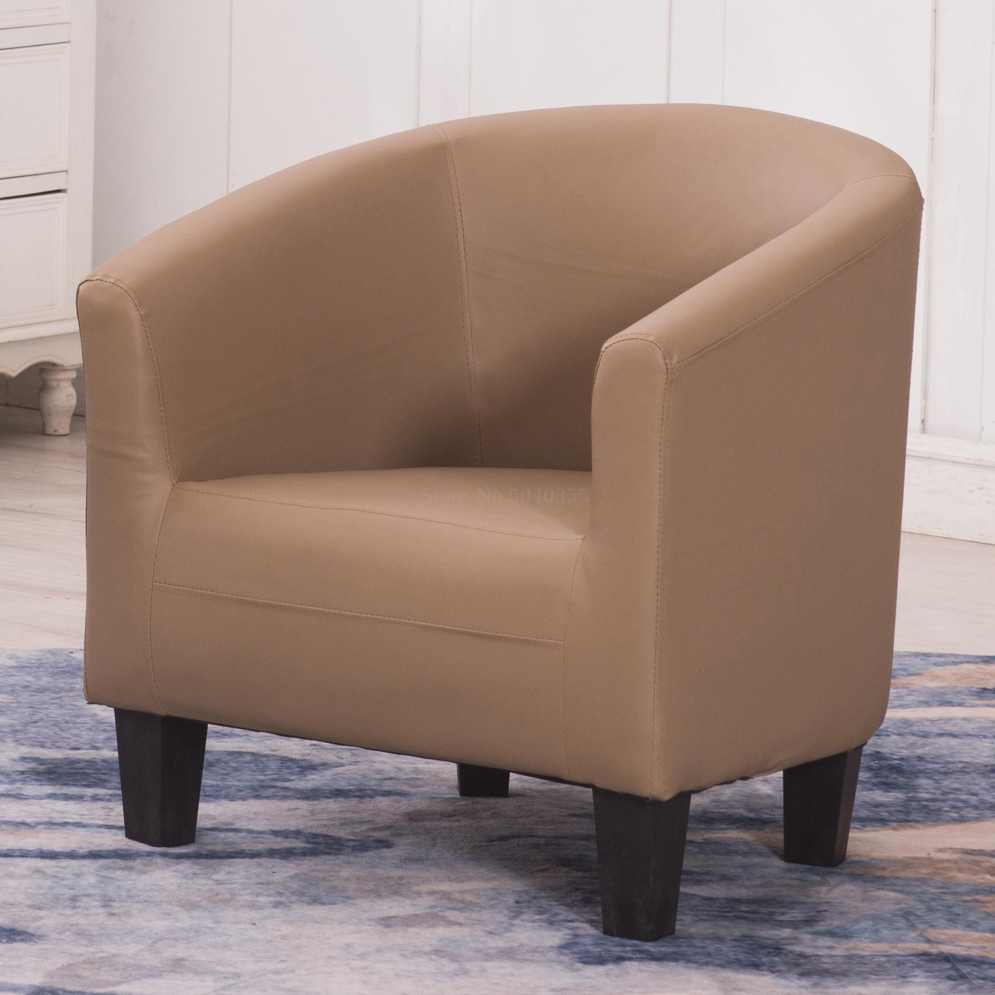Европейский тканевая одноместная Софа стул интернет кафе кофе небольшой диван гостиничная комната кабинет компьютерный диван стул - Цвет: VIP 28