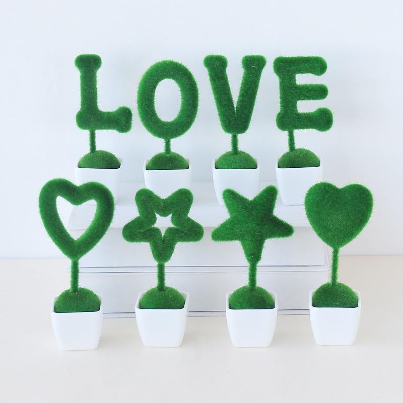 Cute Artificial Plants Love Animal Desktop Decoration Plant Pot Office Home Decor Creative Gift