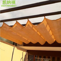 2 M width x 3 M Length/PCS 185gsm HDPE 95% UV Runner Sliding Roof Retractable Wave Sun Shade Sail including accessories