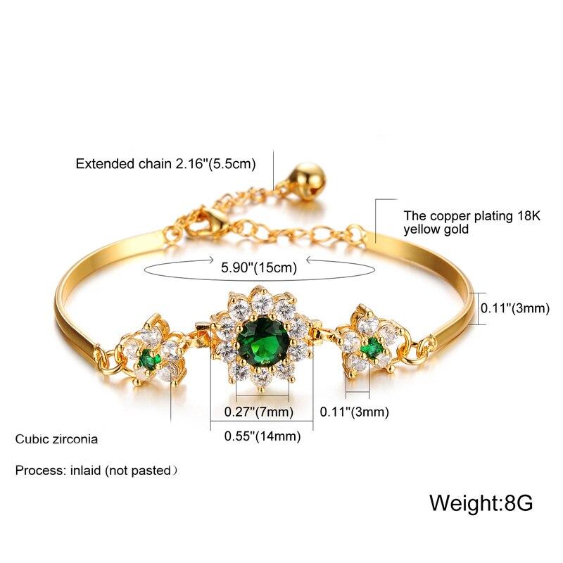 HTB1aNwkaOYrK1Rjy0Fdq6ACvVXau 2019 Luxury 18K Gold Bracelets for Women Fashion Bracelet Accessories Crystal Charm Wedding Jewelry Birthday Gifts