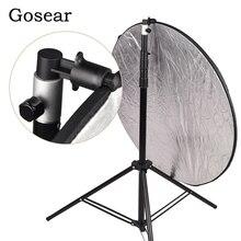 Gosear алюминиевый Портативный Фото Видео студия фотографии фон Отражатель софтбокс диск держатель Клип для осветительной стойки 55x73 мм