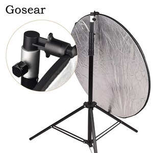 Image 1 - Gosear Aluminum Portable Photo Video Studio Photography Background Reflector Softbox Disc Holder Clip for Light Stand 55 x 73mm