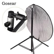 Gosear alüminyum taşınabilir fotoğraf Video stüdyo fotoğrafçılığı arka plan reflektör Softbox disk tutucu klip ışık standı için 55x73mm