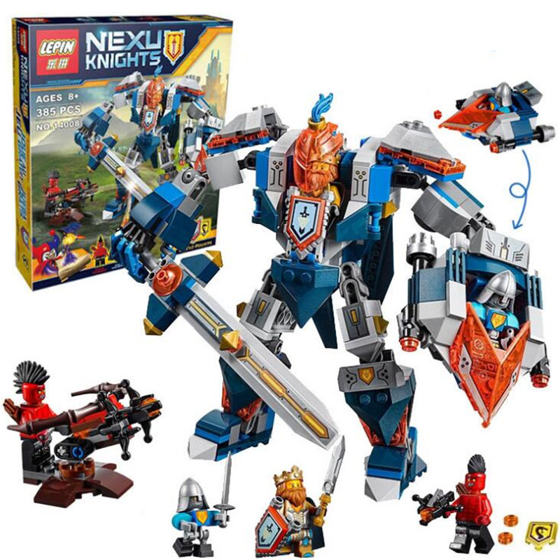 LEPIN 14008 Nexo Knights The King's Mech Combination Marvel Building Blocks Kits Toys Minifigures Compatible With Nexus