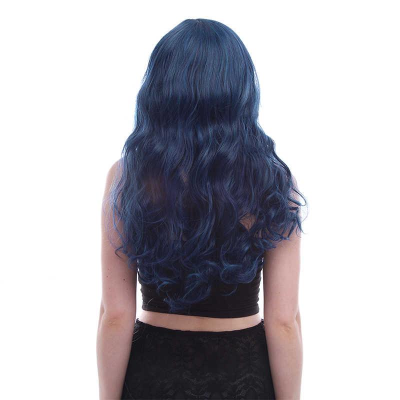 Парик L-email новый фильм Evie персонаж косплей парики 60 см длинные волнистые волосы термостойкие синтетические волосы Perucas Косплей парик